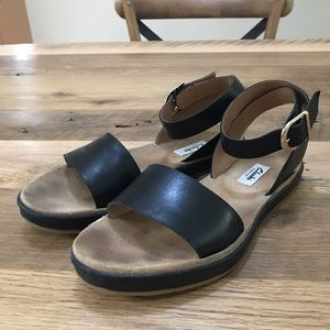 Clarks Romantic Moon Sandals - Black Leather